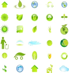 Ecology and environment icon set in format vector