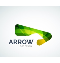 Abstract arrow logo design vector