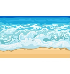 Sea wave and sand beach vector