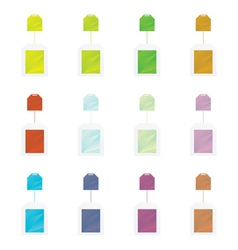 Colored teabag set vector