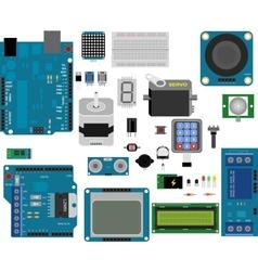 Arduino electronic elements vector