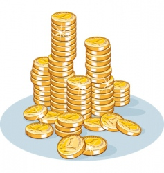 Pile of coins vector