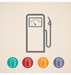 Set of gas pump icons vector