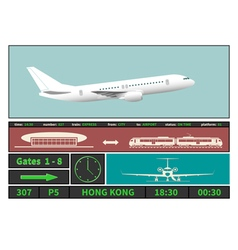 Airplane and information display systems of vector