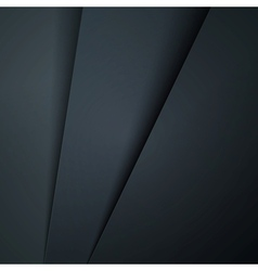 Abstract background with dark grey paper layers vector