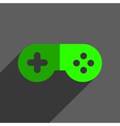 Game joystick flst icon badge vector