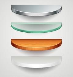 Round shelves vector