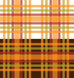 Orange and green plaid seamless background vector