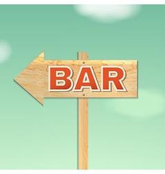 Vintage beach bar sign vector