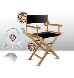 Director chair vector