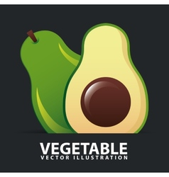 Vegetables icon vector