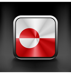 Greenland icon flag national travel icon country vector