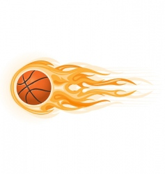 Basketball ball flame vector