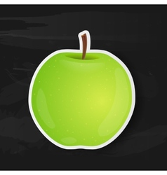 Green apple isolated on black background vector