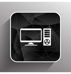 Desktop computer icon pc symbol laptop vector