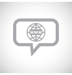 Global network grey message icon vector