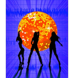 Disco ball nightclub vector