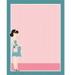 Pregnant woman border vector