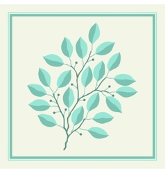 Natural abstract background with branches of vector