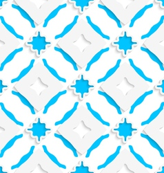 Wavy squares with blue wings seamless vector