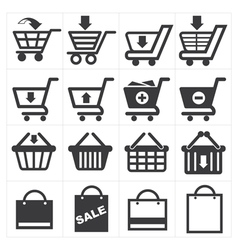 Basket shopping icon vector