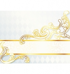 Beautiful horizontal rococo wedding banner vector