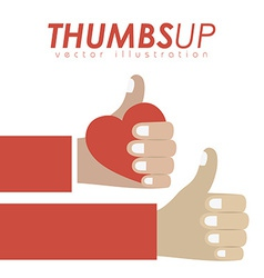 Thumbs up design vector