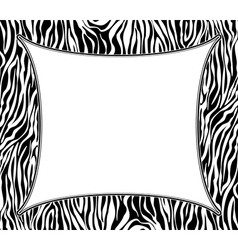 Frame with abstract zebra skin texture vector