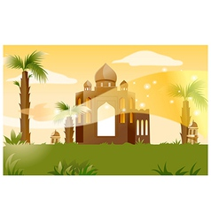 Indian building background vector