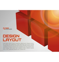 Cube design red vector