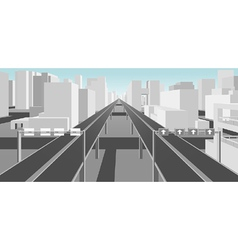 Highways and roads in a modern city vector