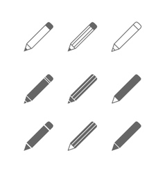 Pencil icons vector