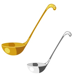 Soup spoon vector