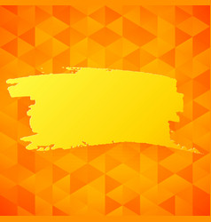 Orange triangles backdrop vector