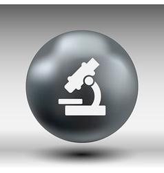Black microscope icon - symbol vector