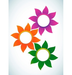 Flower abstract banner vector