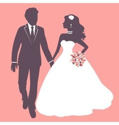 Elegant wedding couple vector