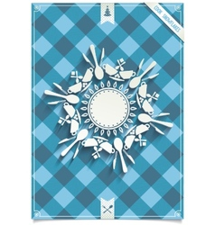 Holiday card with unique design snowflakes vector