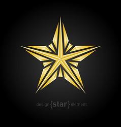 Luxury broken golden star on black background vector