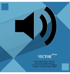 Speaker flat modern web design on a flat geometric vector