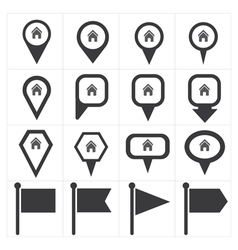 Navigation pin icon vector