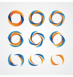 Set of circular creative logos vector