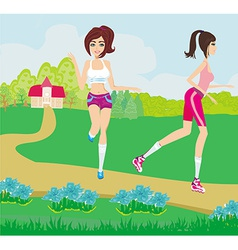 Leisure in the park vector