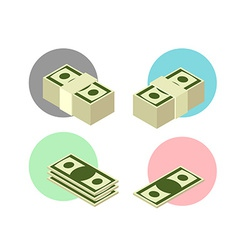 Set money icons vector