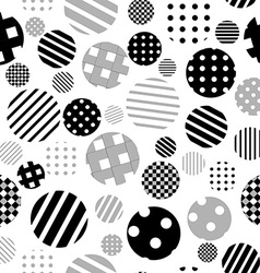 Black and white patterned circles seamless vector