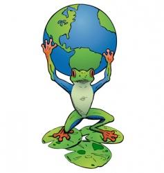 Tree frog atlas vector