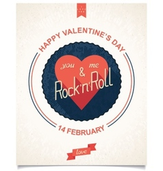 Poster for valentines day vector
