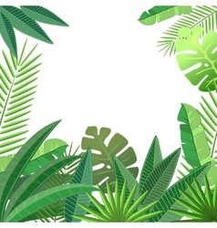 Tropical leaves floral design vector