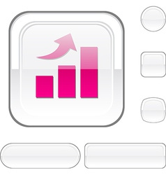 Growth white button vector