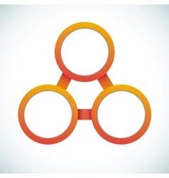 Empty color circle vector